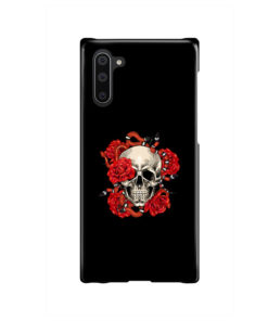 Red Rose Skull for Cute Samsung Galaxy Note 10 Case