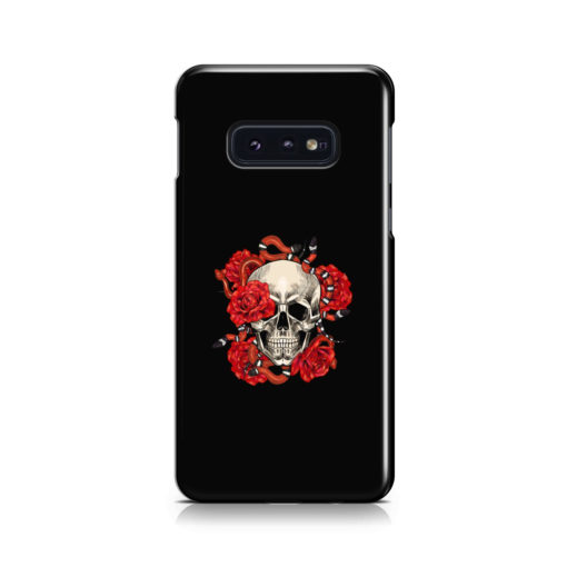 Red Rose Skull for Cute Samsung Galaxy S10e Case