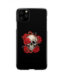 Red Rose Skull for Newest iPhone 11 Pro Max Case Cover