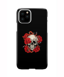 Red Rose Skull for Nice iPhone 11 Pro Case