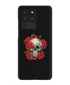 Red Rose Skull for Premium Samsung Galaxy S20 Ultra Case Cover