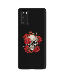 Red Rose Skull for Simple Samsung Galaxy S20 Case Cover