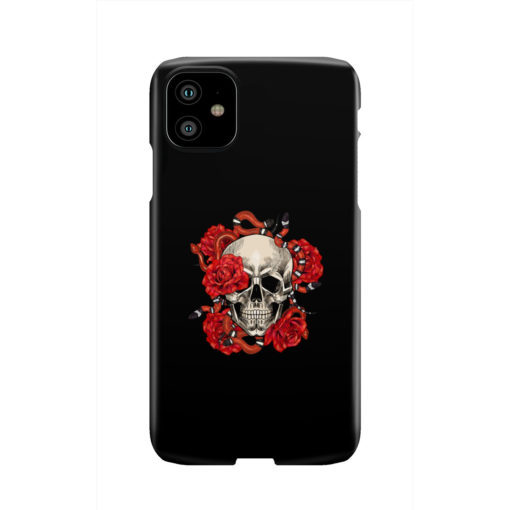 Red Rose Skull for Stylish iPhone 11 Case Cover