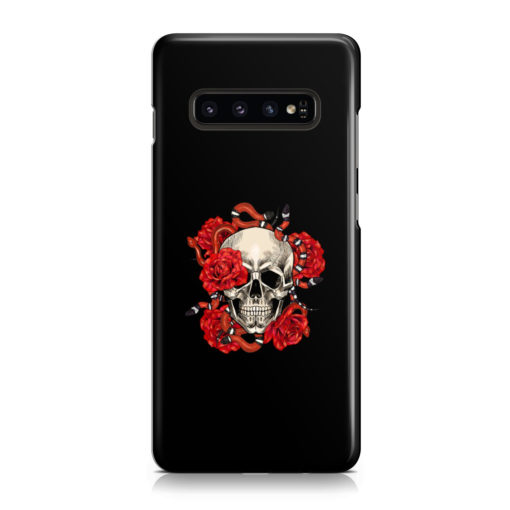 Red Rose Skull for Stylish Samsung Galaxy S10 Plus Case