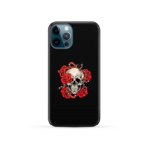 Red Rose Skull for Trendy iPhone 12 Pro Case Cover