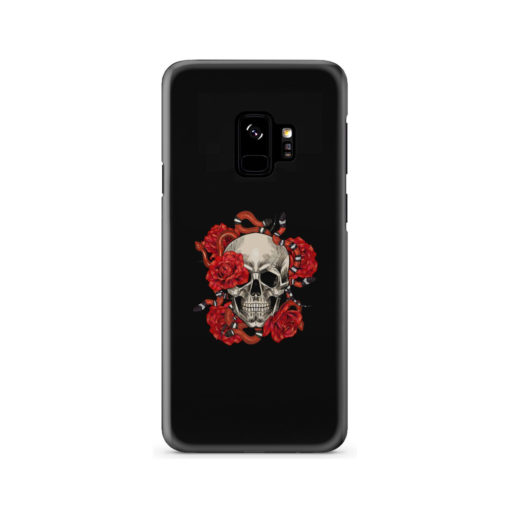 Red Rose Skull for Trendy Samsung Galaxy S9 Case Cover