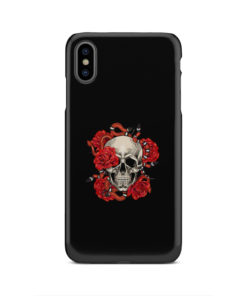 Red Rose Skull for Unique iPhone XS Max Case Cover