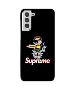 Rick and Morty Black Supreme for Cool Samsung Galaxy S21 Case Cover