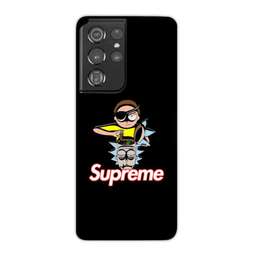 Rick and Morty Black Supreme for Custom Samsung Galaxy S21 Ultra Case Cover