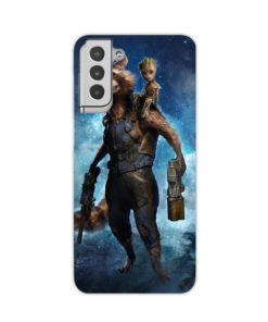 Rocket Raccoon and Baby Groot Heroes for Cute Samsung Galaxy S21 Plus Case