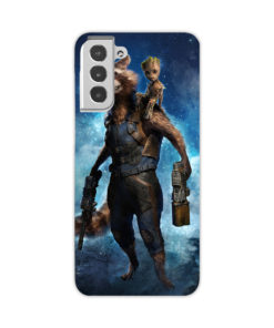 Rocket Raccoon and Baby Groot Heroes for Newest Samsung Galaxy S21 Case Cover