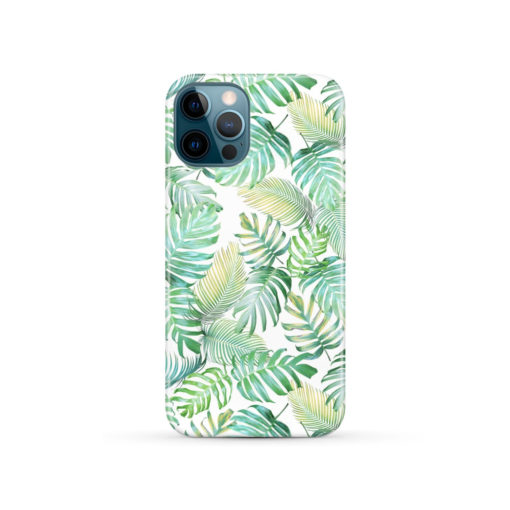 Tropical Palm Leaves for Beautiful iPhone 12 Pro Case