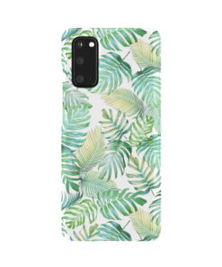 Tropical Palm Leaves for Newest Samsung Galaxy S20 Case Cover