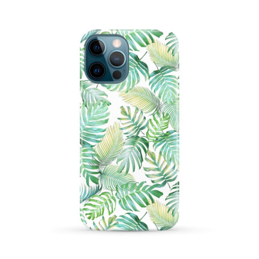 Tropical Palm Leaves for Personalised iPhone 12 Pro Max Case Cover