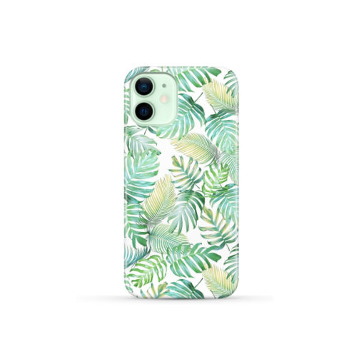Tropical Palm Leaves for Simple iPhone 12 Mini Case Cover
