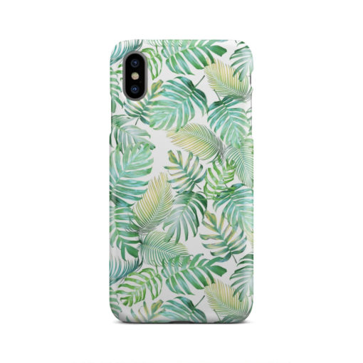 Tropical Palm Leaves for Trendy iPhone XS Max Case Cover
