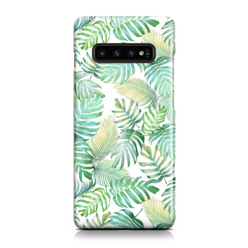 Tropical Palm Leaves for Unique Samsung Galaxy S10 Plus Case Cover